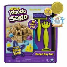 The One And Only Kinetic Sand, Beach Day Fun Playset With Castle Molds, Tools, A