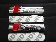 2 Logo S LINE Emblème SLINE En Métal Chromé Pour Voiture AUDI