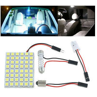 Car Interior White 12V 48 SMD 5050 LED Light Lamp Panel T10 Festoon Dome BA9S