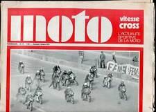 HEBDOMADAIRE MOTO VITESSE CROSS N°16. 1970.
