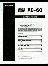 Copy* Roland AC-60 Acoustic Chorus Compact HP Guitar Amplifier Owner's Manual