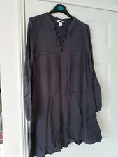 H&M BNWOT QUIRKY GREY DRESS SIZE 12