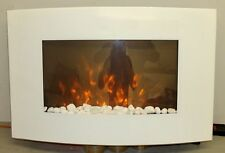 TRUFLAME 7 Colour Side LEDs Wall Mounted Arched White Glass Electric Fire 2016