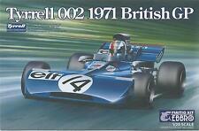 KIT EBBRO 1:20 DA COSTRUIRE IN PLASTICA TYRELL 002 1971 BRITISH GP  ART  008