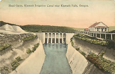 Vintage Postcard Head Gates Klamath Irrigation Canal near Klamath Falls OR