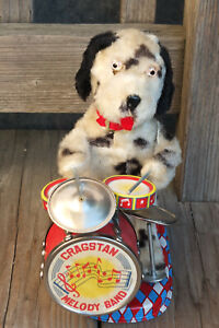 ALPS ~ Vintage Cragstan Melody Band Drumming Dalmation Toy B/O 50-60's ~ JAPAN