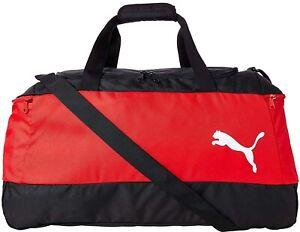 Puma Pro Training II Holdall Red Medium Duffel Bag Gym Training Travel Weekender