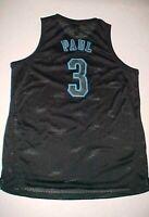 Chris Paul #3 New Orleans Hornets NBA adidas Black Blue Swingman Jersey XL