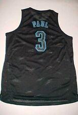 6b4a7dba6 Chris Paul  3 New Orleans Hornets NBA adidas Black Blue Swingman Jersey XL
