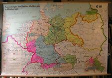 Schulwandkarte Wandkarte Deutsches Reich 1945 Deutschland Österreich 158x108cm