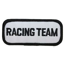 ID 1455 Racing Team Name Tag Embroidered Iron On Applique Patch