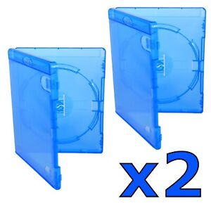 2 x Genuine Amaray Empty Replacement Blu Ray Cases - 14mm Spine