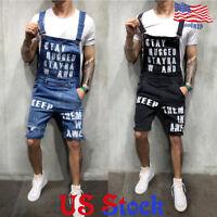 Men's Suspenders Monogrammed Denim Overalls Jumpsuits Cargo Pants Trousers Jeans