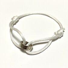 Authentic Cartier Love Charity cord bracelet 18k white gold