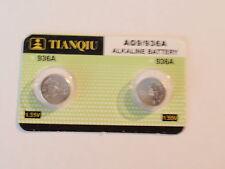 Fast Ship-2- Alkaline Watch Batteries-AG9 / 936A / LR 936-LR45-394 1.55V -AAZZ