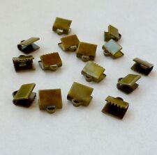 50 Piezas Cinta De Bronce Antiguo Crimp End Cap 7x7 mm