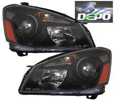 BLACK Projector Head Light DEPO NEW Fits 2005-2006 Nissan Altima