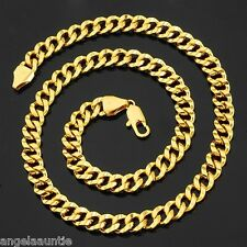 18K Yellow Gold Filled Curb Link Necklace (N-113)