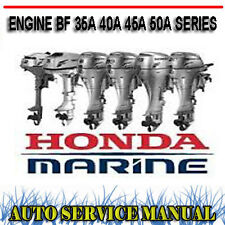 HONDA OUTBOARD ENGINE BF 35A 40A 45A 50A SERIES WORKSHOP SERVICE MANUAL ~ DVD
