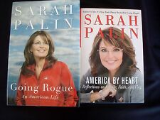 SARAH PALIN Lot 2 Books Going Rogue & America By Heart H/C