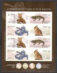 Canada 2006 Fox/Snake/Lizard/Animals 8v s/a bklt n24941