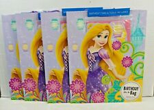 Hallmark Disney Princess Rapunzel Gift BAG SET+Tissue + Birthday Card Lot of 4