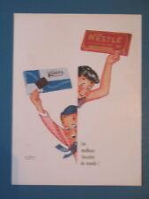 PUBLICITE DE PRESSE NESTLE KOHER MEILLEURS CHOCOLATS ILLUSTRATION COURONNE 1958