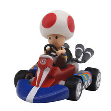 """Super Mario Bros Toad Pull Back Racers Racing Kart Car Figure Toy 3.5"""" New"""