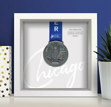 Chicago Marathon Personalised Medal Frame (script) - A unique gift!