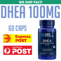 Life Extension DHEA 100 mg 60 capsules Dehydroepiandrosterone AU STOCK