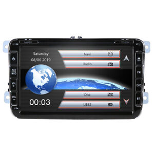 "Für VW Passat Golf 5 6 Jetta Skoda Touran Polo NAVI 8"" HD GPS Autoradio DVD 2DIN"