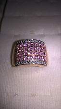 Pink Sapphire Round Ring / 14K Rose Gold Plating