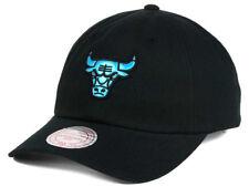 NBA Chicago Bulls Mitchell   Ness Strapback Gaze Dad Hat Mens Black Blue 607ad95b530