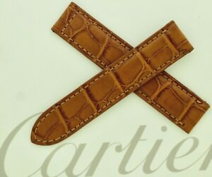 Cartier Strap Brown/Tan Alligator 16mm x 16 mm For Deployment made in France,New