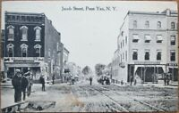 Penn Yan, NY 1910 Postcard: Jacob Street / Downtown - New York