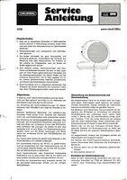 Service Manual-Anleitung für Grundig Sono Clock 550 a