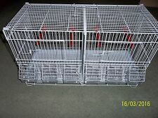 BRAND NEW WIRE DOUBLE BREEDING CAGE , CANARY , BUDGIE , FINCH ETC
