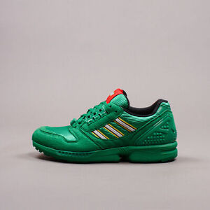 Adidas Originals x LEGO ZX 8000 Green Limited Edition Rare New Men Shoes FY7082