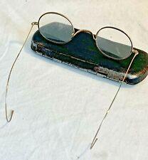 Antique gold filled wire rim glasses prescription reading eyeglasses with case