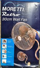 Retro Style Wall Fans x 3