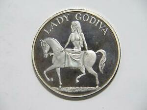 LADY GODIVA NUDE WOMAN HORSEBACK 1 TROY OUNCE .999 FINE SILVER ART ROUND 🌈⭐🌈