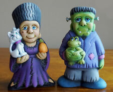 Ceramic Bisque Ready to Paint (Small) Frankie and Mrs Frankie  5 inches tall