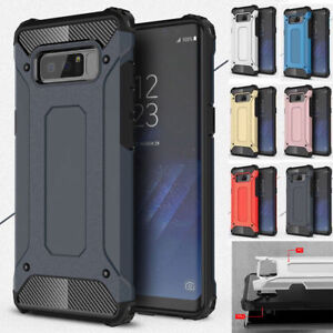 Shockproof Hybrid Armor Case Cover For Samsung Galaxy Note 4 5 S5 S6 S7 S8 S9
