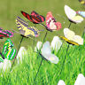 5Pcs Butterflies Garden Colorful Butterfly Stakes Outdoor Flower Pots DecorS*GY