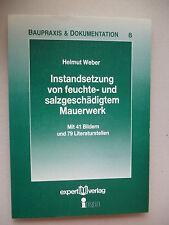 Instandsetzung feuchte- salzgeschädigtem Mauerwerk  1993 Baupraxis 8