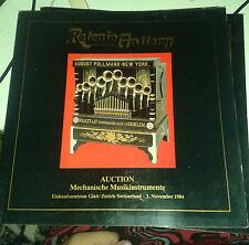 Retonio Gallery. Auction. Mechanische Musikinstrumente. 3. November 1984..