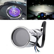 Silver Shell LED Backlight Motorcycle ATV Odometer Speedometer Gauge Cafe Racer