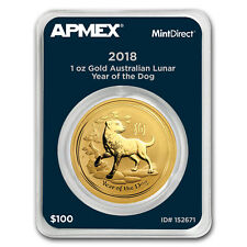 2018 1 oz Gold Lunar Year of the Dog (MintDirect® Single)