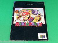 Nintendo 64 Mario Party N64 Spielanleitung  #ag436