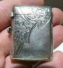 Antique 1903 Arthur Cook Birmingham Engraved Sterling Silver Vesta Match Safe